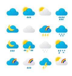 Meteorology signs and weather vector