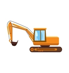 Orange digger icon cartoon style vector