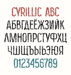 Sans serif cyrillic font vector