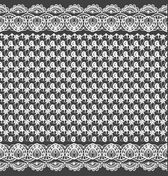 Seamless texture black and white lace pattern for vector