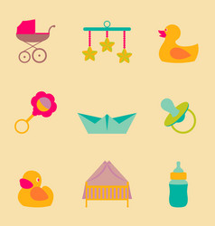 set collection icons of color object for vector image