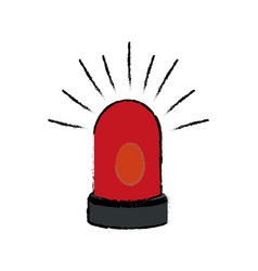Siren alert warming system danger icon vector