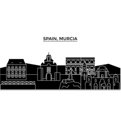 Spain murcia architecture city skyline vector