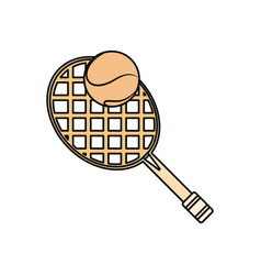 Sport tennis racket vector