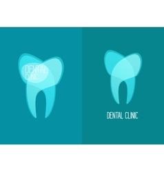 Stomatology healthy white teeth logo vector