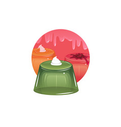Sweet colorfu jelly vector