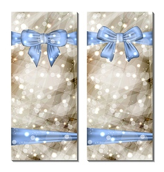 Traditional cards with gift bows isolated vector image vector image