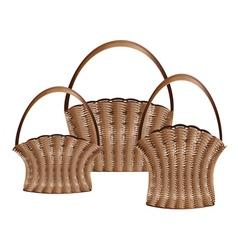 Weaved baskets2 vector image vector image