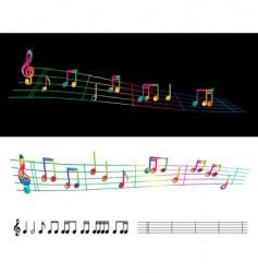 Rainbow sheet music vector
