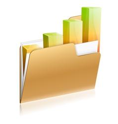 Financial Folder Icon vector image