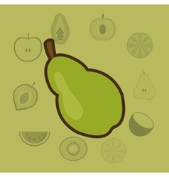 Healthy food icons image vector