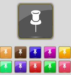 Clip Icon sign Set with eleven colored buttons for vector image