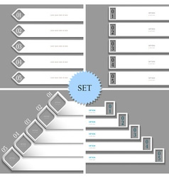 White design templates banners for infographics vector image