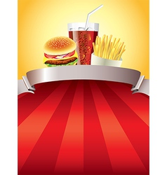 fastfood background vector image