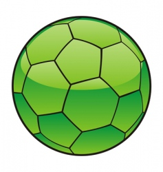 Libya flag on soccer ball vector