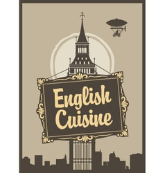 English cuisine vector