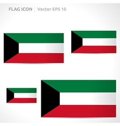 Kuwait flag template vector
