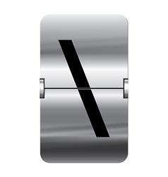 Alphabet silver flipboard letters backslash vector image