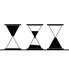 hourglass icon in black vector image