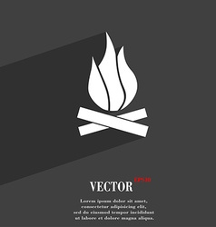 A fire icon symbol flat modern web design with vector