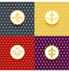 Royal patterns set vector