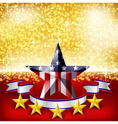 American independence day background flag on stage vector