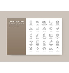 Set of construction building icons home and repair vector