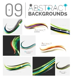 Set of smooth abstract backgrounds vector