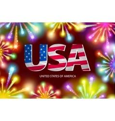 Shiny firecrackers on red and blue background for vector image