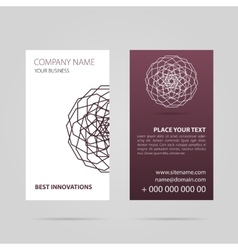 Business card with mandala vector