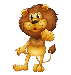 A lion standing vector