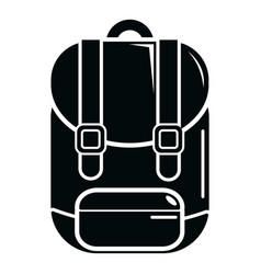 backpack icon simple black style vector image