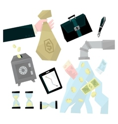 Banking related set vector