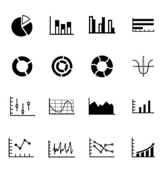 black diagrams icon set vector image