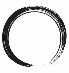 black zen circle brush design vector image