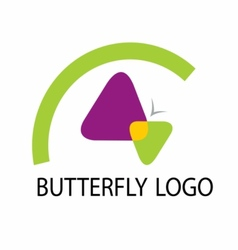butterfly logo template icon vector image vector image