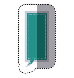 Color sticker large rectangle frame callout vector