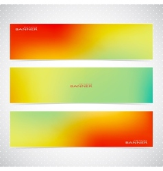 Colorful Horizontal Set Of Banners Modern vector image vector image
