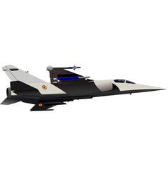 combat aircraft vector image vector image
