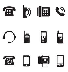 communication call phone vintage retro vector image