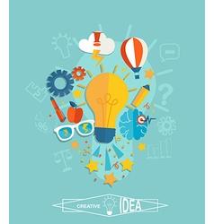 Conceptual of creative idea vector image