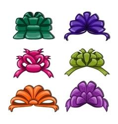 Cute cartoon bows vector image