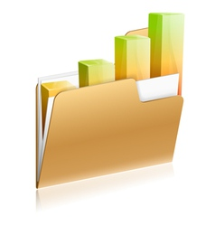 Financial Folder Icon vector image vector image