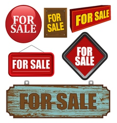 For sale design element vector image vector image