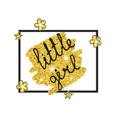 Gold princess party decor gold princess party vector