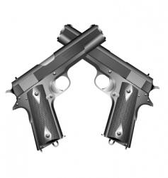 guns vector image vector image