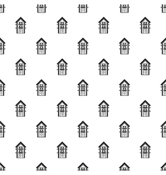 House with balcony pattern simple style vector