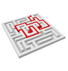 labyrinth maze vector image vector image