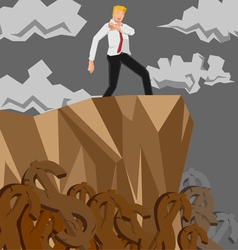man money cliff vector image
