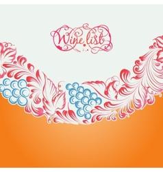 Menu design wine list vector image vector image